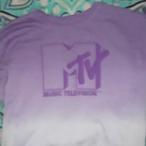 A Long Sleeve MTV sweater crop top wore it once